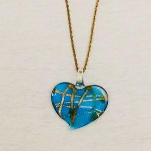 Hand Blown Murano Glass Heart